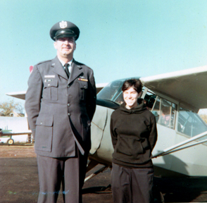 Standing by our CAP airplane with my instructor