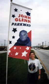 NASA Road 1 briefly named for John Glenn's return to flight