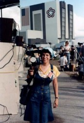 I'm ready with my camera for the STS-7 launch