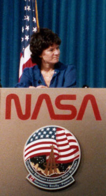 Astronaut Sally Ride after her second space flight